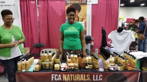 FCA Naturals hair show booth