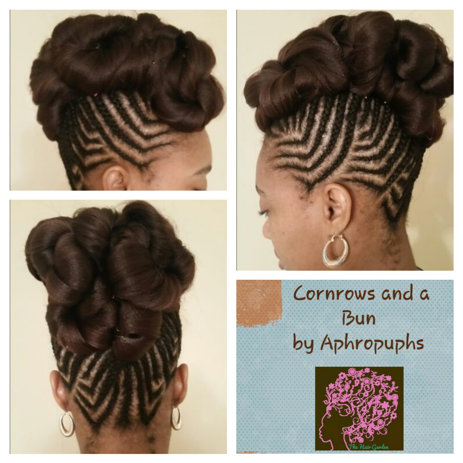 how to make ponytail of straight brazilian weave : With Low Bun cornrows and a bun ? the hair garden ? natural hair ...