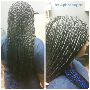 Senegalese Twists. Contact me to book your appointment!