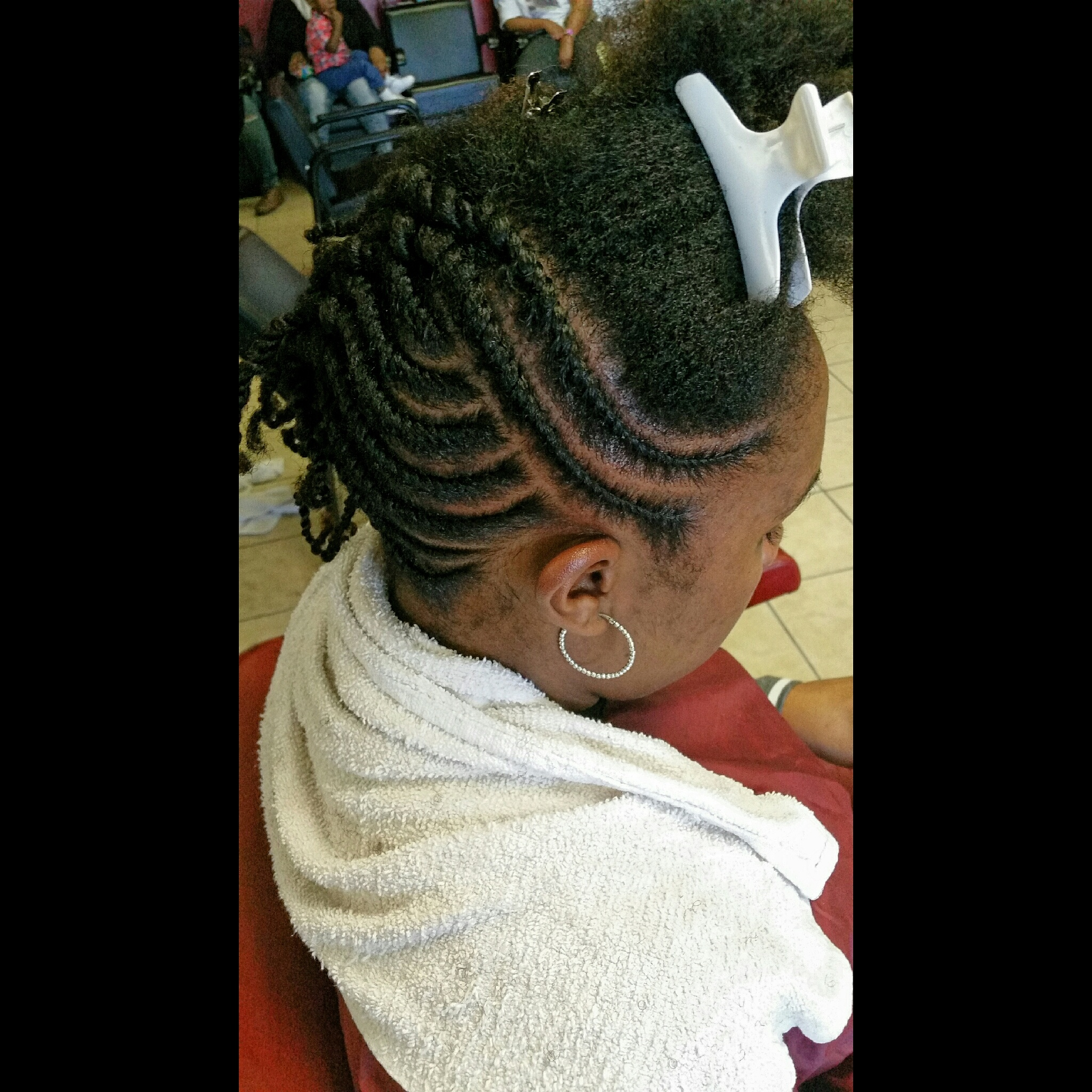 Flat Twist Updo For Natural Hair The Hair Garden Nursery